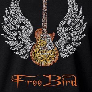 NEW Graphic Freebird LA pop art/word art T-shirt